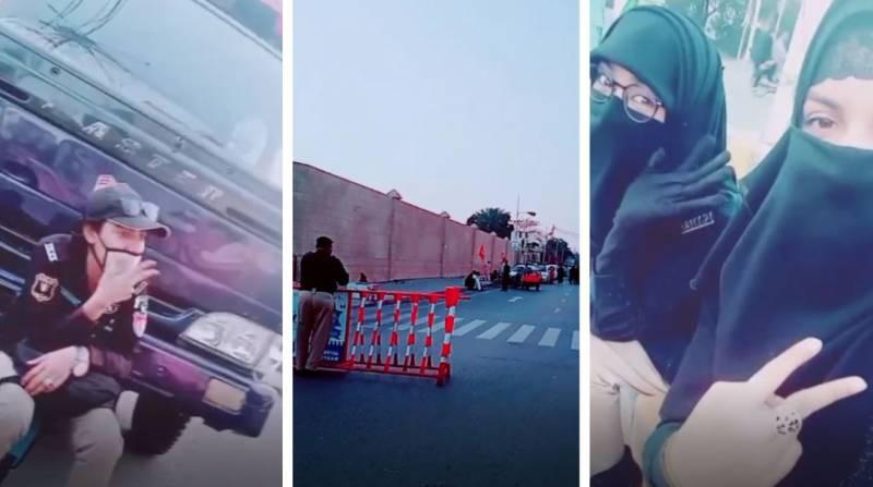 'Pawri or Khuwari'? Sindh female police officers jump on #Pawri bandwagon by roasting deployment (VIDEO)