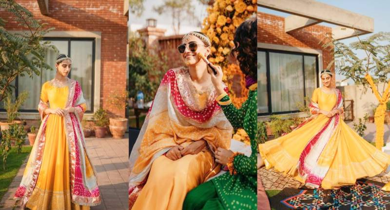 Mere Paas Tum Ho actor Rehmat Ajmal looks stunning on her Mayoun