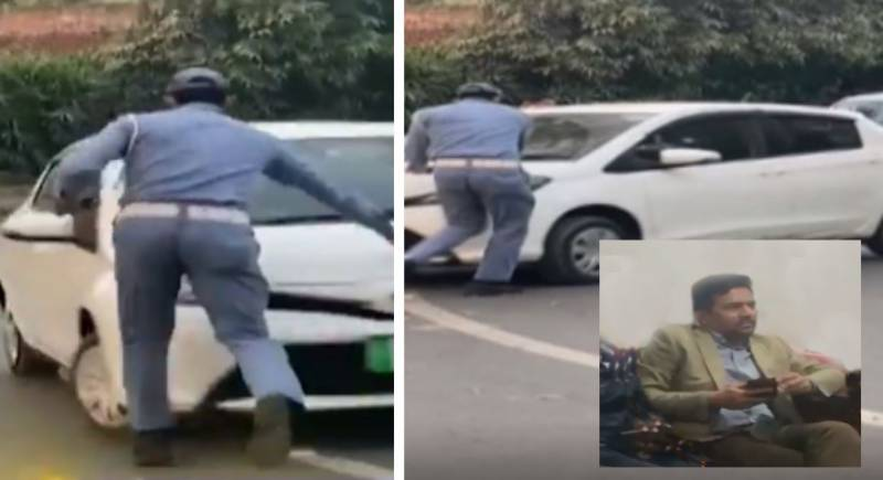 FBR officer arrested for 'running over' traffic cop in Lahore (VIDEO)