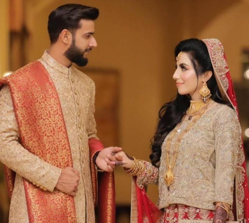 Imad Wasim and wife Sannia welcome a baby girl