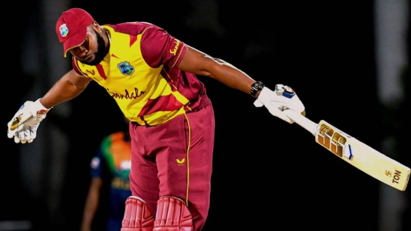 WATCH – Kieron Pollard smashes 6 sixes in an over