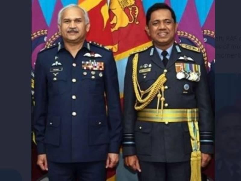 PAF chief feels pride as Sri Lankan Air Force top commander trained in Pakistan