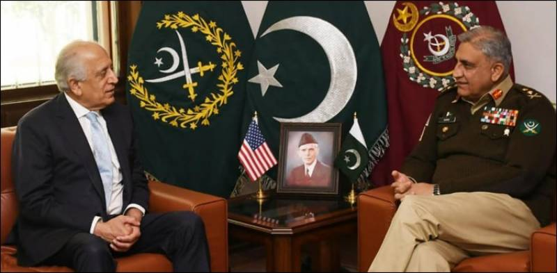 Top US officials meet COAS Bajwa, hails Pakistan's role in Afghan peace process