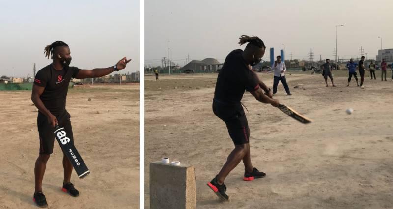 WATCH – Peshawar Zalmi's Darren Sammy hits the streets of Lahore for tape ball cricket