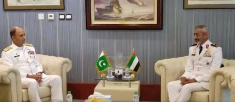 Pakistan, UAE Naval Chiefs discuss defence collaborations, regional maritime security