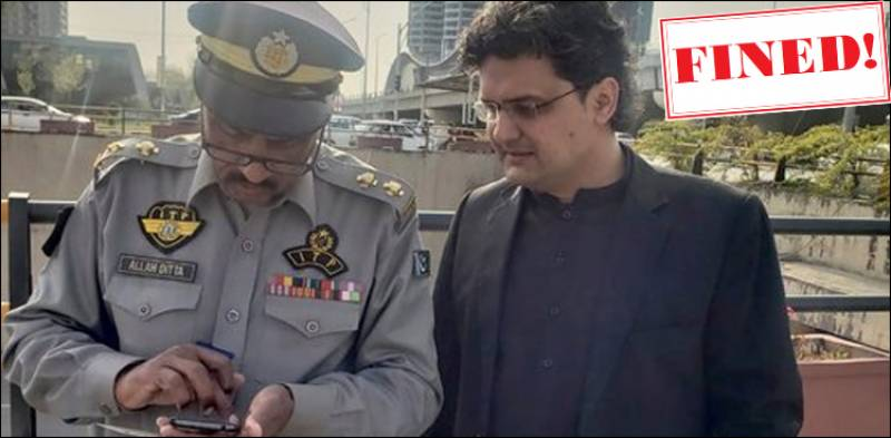 Islamabad warden fines PTI' Faisal Javed for traffic violation