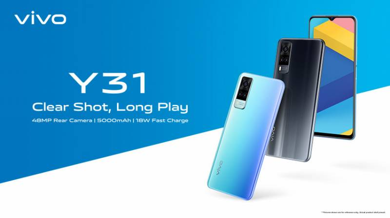 vivo launches Y31 featuring 48MP Rear Camera, 6.58-Inch Halo FullView Display & 5000mAh Battery with 18W Fast Charge
