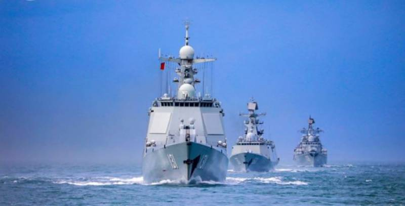China holds combat-oriented naval drills amid US military threats