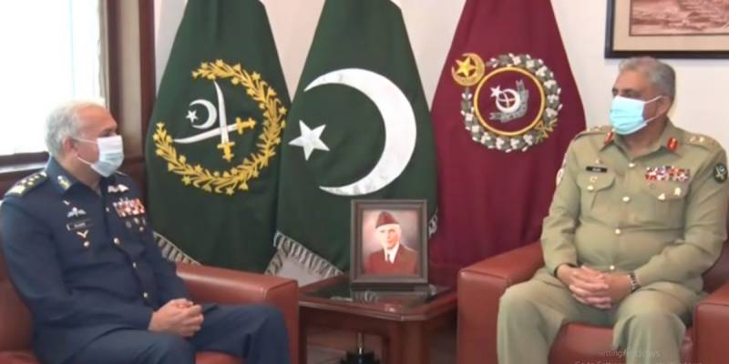 Outgoing Air Chief Marshal Mujahid Anwar holds farewell meeting with Gen Bajwa
