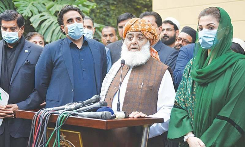 PDM postpones long march against PTI government