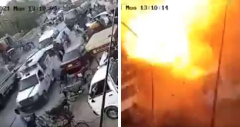 Watch: CCTV footage of blast near Rangers vehicle in Karachi's Orangi Town