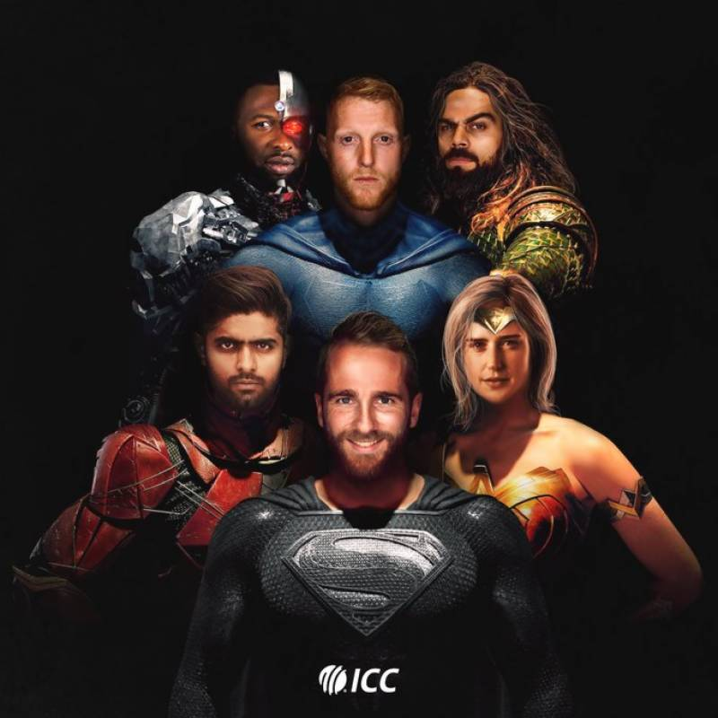 ICC features Babar Azam as 'Flash' in 'Justice League'