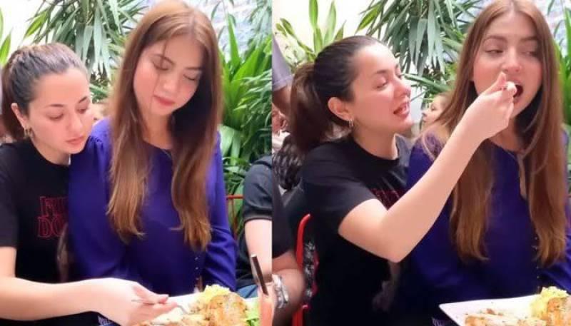 Hania Aamir's video of force feeding 'Pawri girl' goes viral (VIDEO)