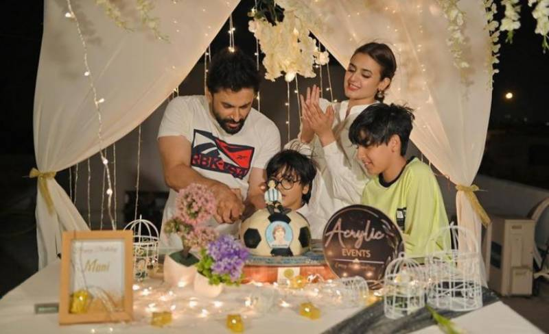 Hira Mani surprises her husband with a birthday bash