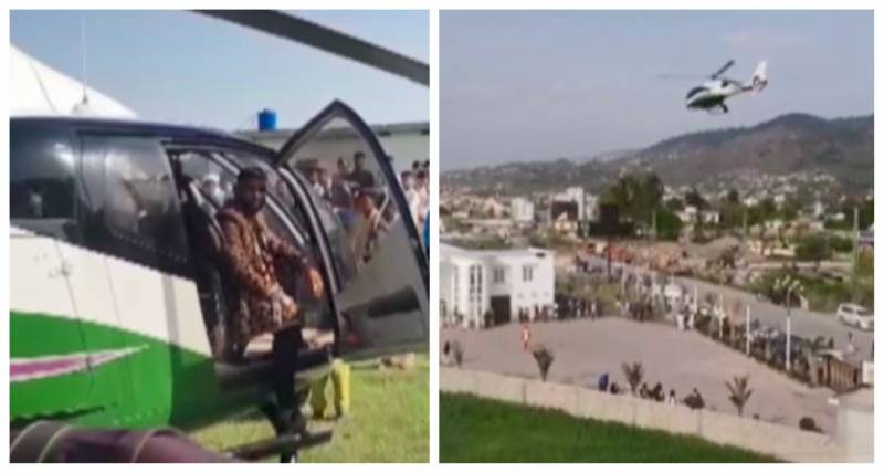 Groom hires helicopter for baraat in one of AJK's most expensive weddings