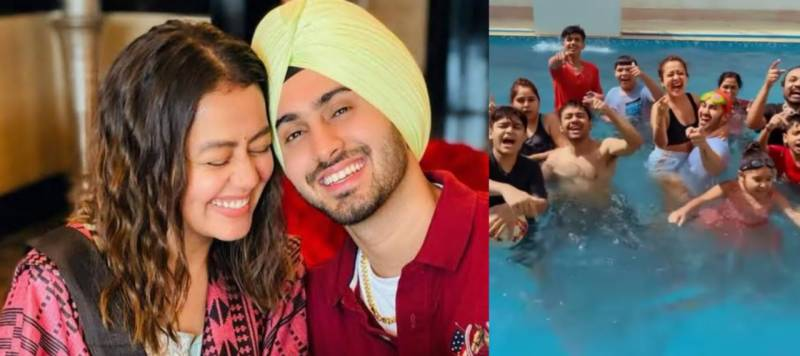 Watch Neha Kakkar partying in pool with husband and friends