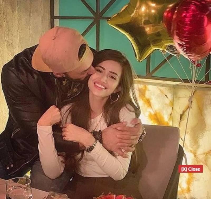 Sana Javed celebrates her 28th birthday with husband Umair Jaswal