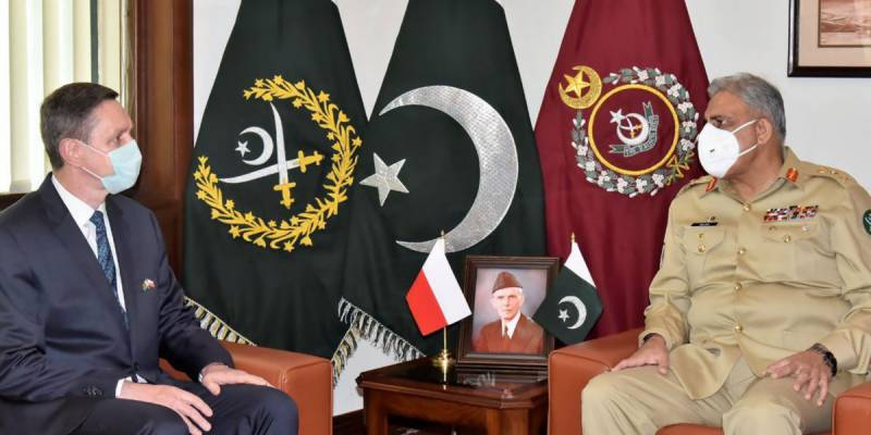 Polish envoy meets COAS Bajwa, appreciates Pakistan's peace efforts