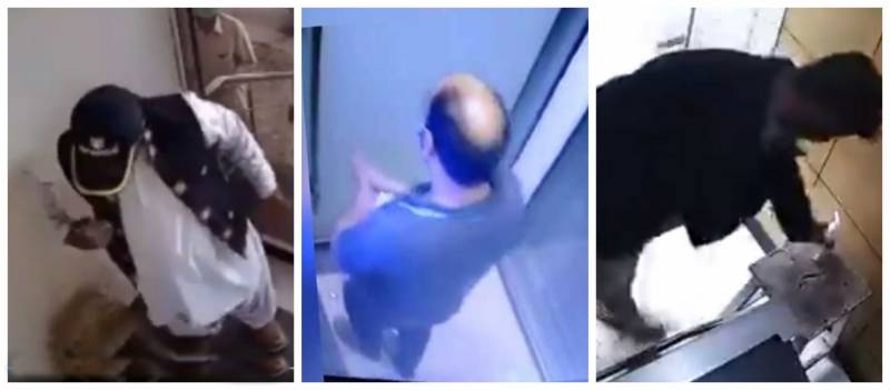 CCTV footage of people stealing hand sanitizer in ATM goes viral