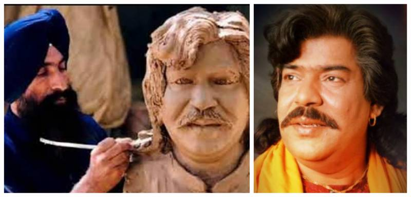 Indian sculptor pays tribute to late Shaukat Ali