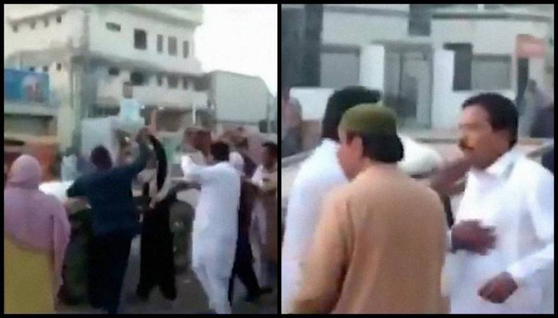 WATCH – Dadu cop beats up labourer for not giving way to pass by