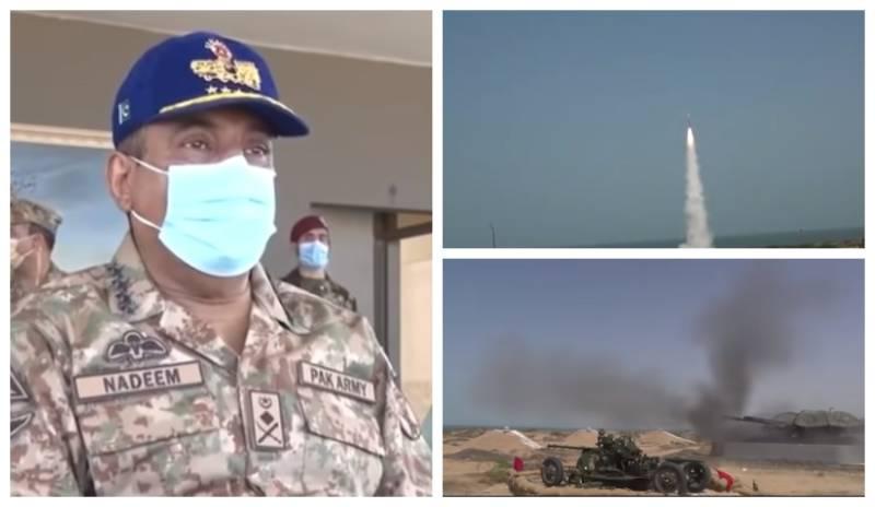 'Al-Bayza-II' drills – CJCSC Gen Nadeem witnesses Air Defence weapon systems' firing (VIDEO)