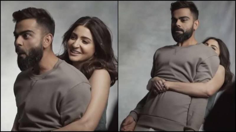 Anushka Sharma beams as she lifts Virat Kohli in hilarious BTS video