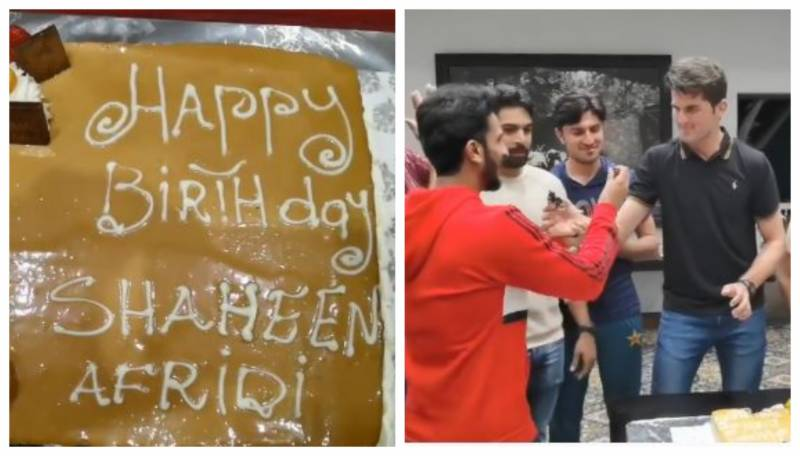Pakistan team celebrate Shaheen Afridi's birthday in style (VIDEO)