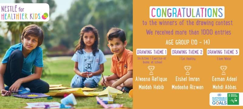 Nestlé Pakistan Hosts Drawing Contest for Kids under its Nestlé for Healthier Kids Program