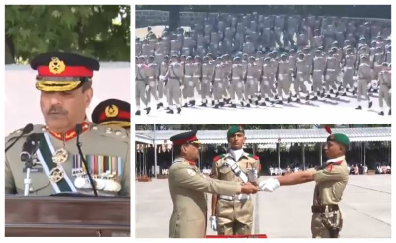 CJCSC Gen Nadeem inspects passing out parade of cadets at PMA Kakul (VIDEO)