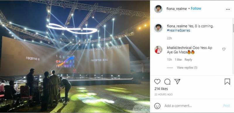 realme8 Series Launch Event Photo Leaked