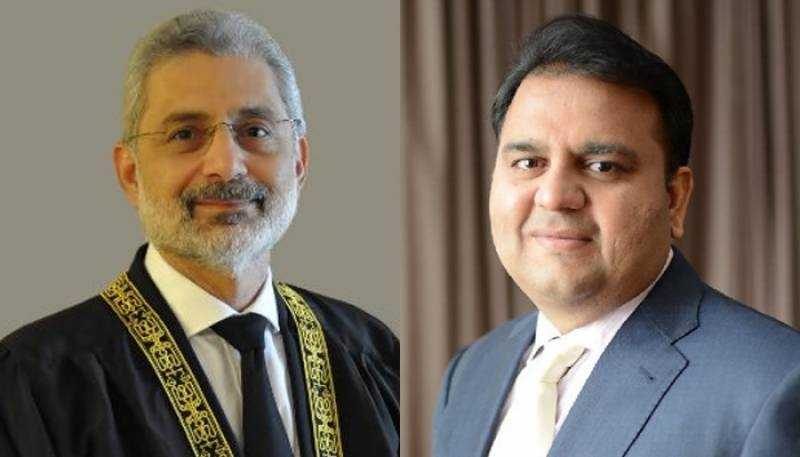 Justice Qazi Faez Isa to hear contempt case against Fawad Chaudhry on Monday