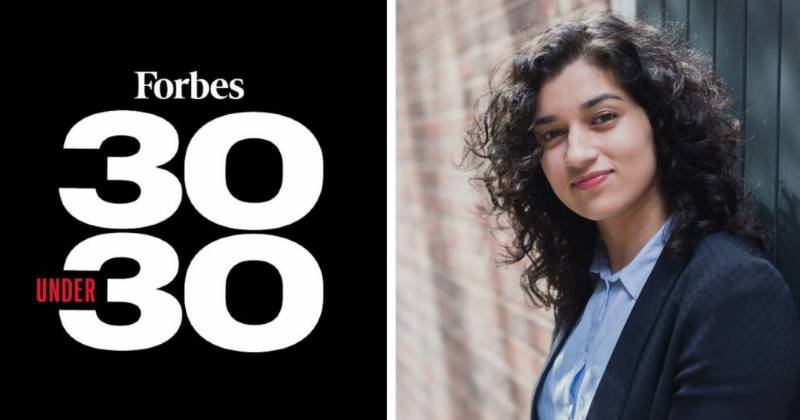 Pakistani origin young innovator named in Forbes' 30 Under 30 list