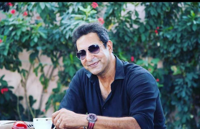 Wasim Akram enjoying Ramadan break with son in Dubai