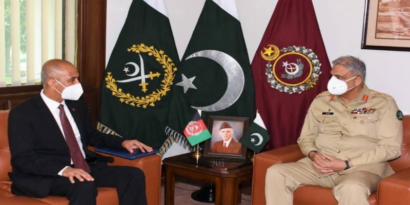 Afghan envoy meets COAS Bajwa, hails Pakistan's relentless support in peace process