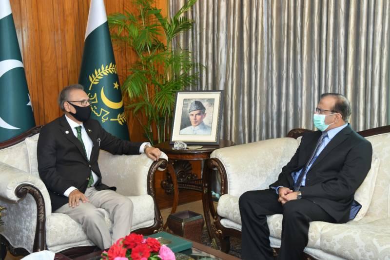 President Alvi vows to cement ties with Saudi Arabia
