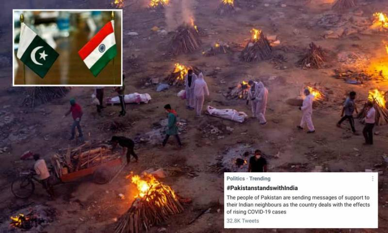'Pakistan stands with India' trending as netizens rally together to pray for India amidst Covid crisis
