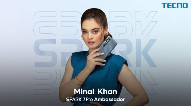 Youth icon Minal Khan announced ambassador for TECNO's new Gaming King, Spark 7 Pro