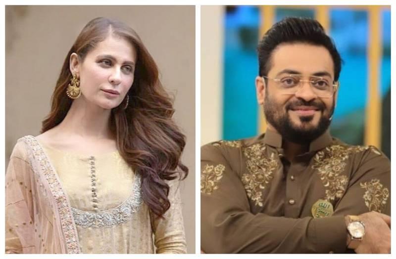 Nausheen Shah loses her cool over Aamir Liaquat's antics