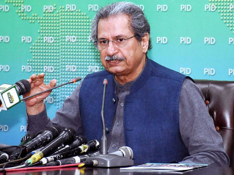 Not possible to promote students without exams this year: Shafqat Mahmood