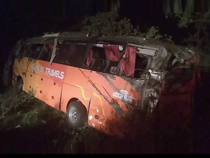 15 killed as over speeding coach plunges into ravine near Attock