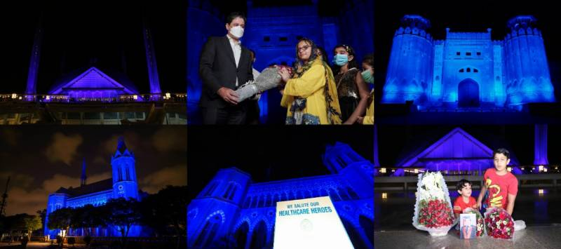 Ferozsons Laboratories salutes Healthcare Heroes by lighting National Monuments Blue