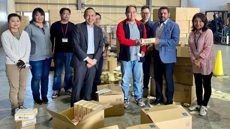Japan gifts 130,000 rapid COVID-19 testing kits to Pakistan