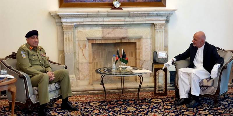 Afghan President hails Pakistan's peace efforts in meeting with COAS Bajwa