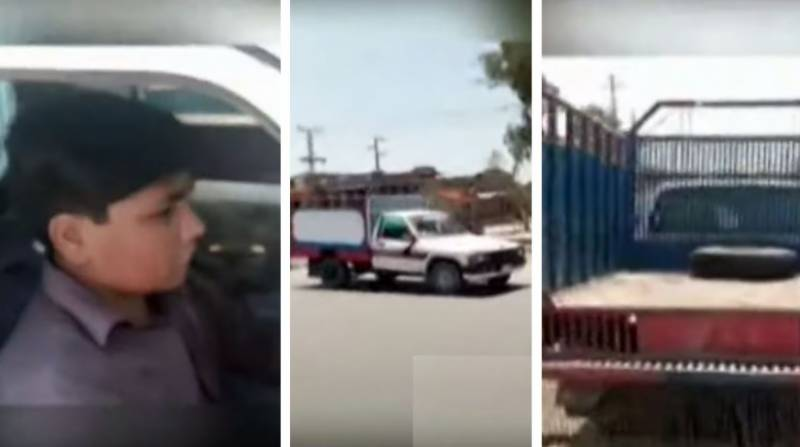WATCH - Nine-year-old boy spotted driving carriage truck in Sukkur
