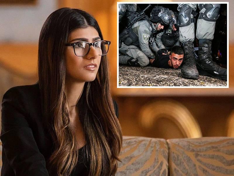 Mia Khalifa blames US for Jerusalem violence
