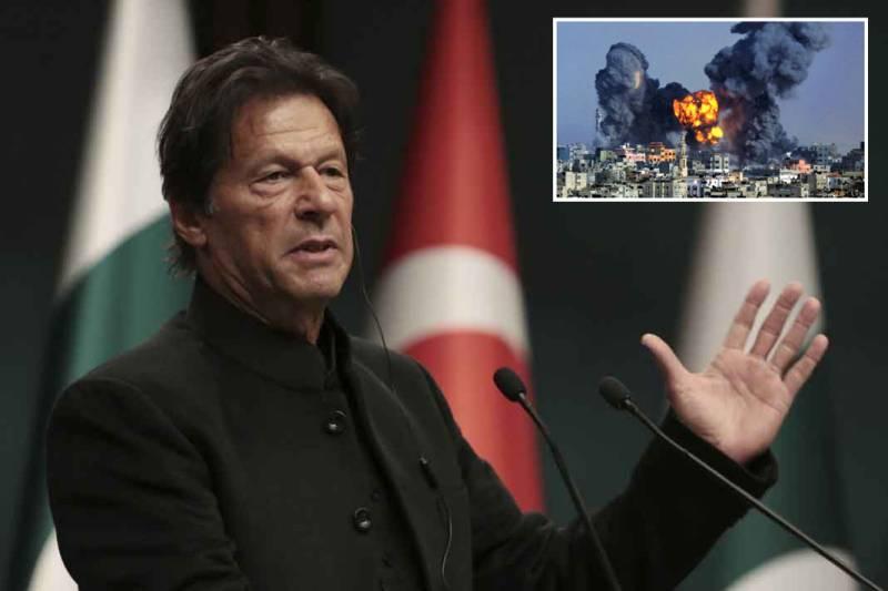#WestandwithGaza, PM Imran reiterates support to Palestinians amid Israeli bombardment