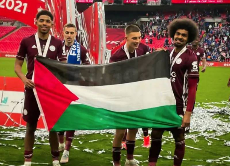 WATCH - Leicester City players wave Palestinian flag after winning maiden FA Cup