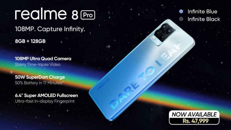 realme 8 Pro comes as the Super-fast Charging Phone from the brand