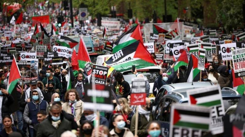 London police officer faces probe for chanting 'Free Palestine' at anti-Israel protest
